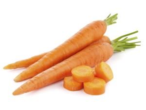 fresh carrots isolated on white background